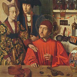 자신의 금세공 작업장에 있는 성 엘리기우스