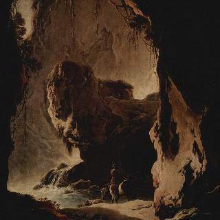 동굴이 있는 풍경