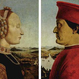 페데리코 다 몬테펠트로와 그의 부인 바티스타 스포르차의 두폭화
