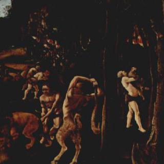 인류의 상고사를 그린 연작그림 : 사냥 장면