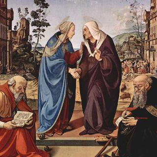 방문 : 마리아와 성 엘리사벳, 성 니콜라우스와 성 안토니우스