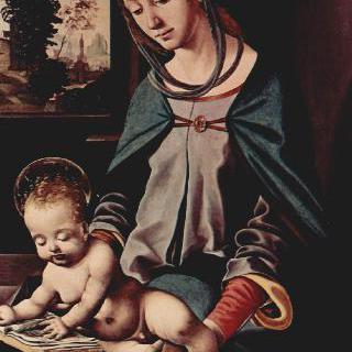 성모와 책을 읽는 아기 그리스도