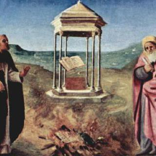 왕좌에 앉아 있는 성모, 성베드로, 성 세례 요한, 바리의 성니콜라우스와 성도미니쿠스