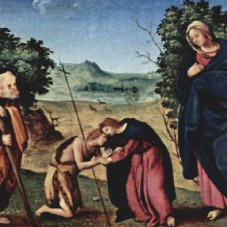 왕좌에 앉아 있는 성모, 성 베드로, 성 세례 요한, 바리의 성니콜라우스와 성도미니쿠스