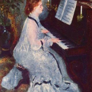 피아노 치는 여인