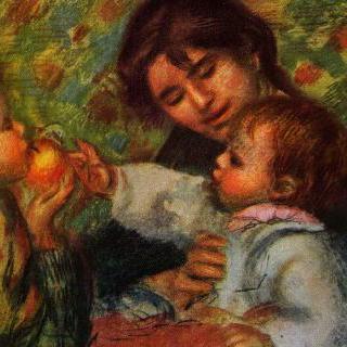 장 르누아르와 (보모) 가브리엘의 초상