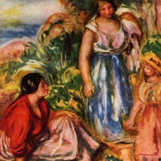 풍경 속의 두 여인과 소녀