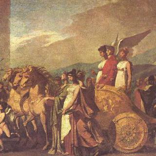보나파르트의 개선행렬 또는 평화 (초벌그림)