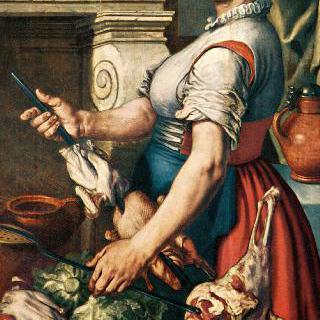 요리하는 여인