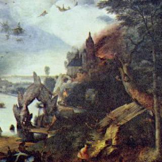 성 안토니우스의 유혹이 있는 풍경