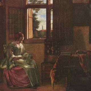 편지 읽는 여인