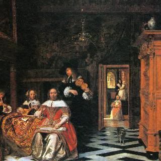 음악을 연주하는 가족의 초상