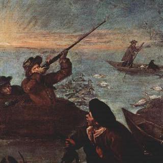 연작 그림 계곡의 사냥 : 통 안의 사수