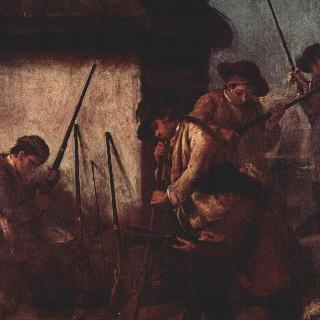연작 그림 계곡의 사냥 : 무기 준비