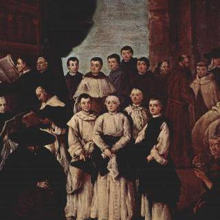 베네치아 수도사들과 의전사제들, 베네치아 교단 회원들의 단체그림