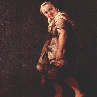 작은 바구니를 든 양치기소녀