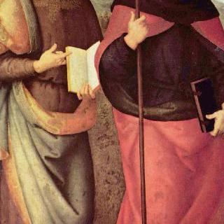성 아우구스티누스 제단화 : 세례 요한과 성 아우구스티누스