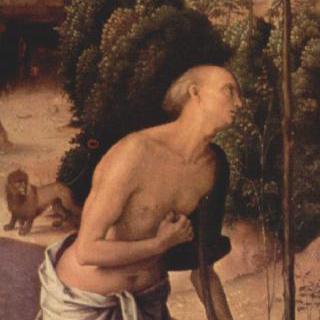 갈리친의 세폭화, 왼쪽 날개 : 성 히에로니무스