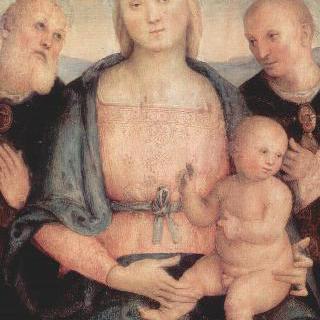 성모와 페루자의 성 헤르쿨라누스, 성 콘스탄치우스