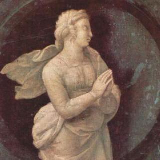 기본 덕목을 묘사한 프레델라 : 소망 (스페스)과 두 천사