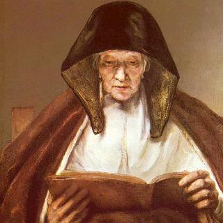책 읽는 노부인