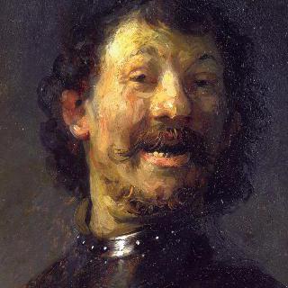 웃고 있는 남자 (경갑을 착용한, 웃고 있는 남자의 흉상)