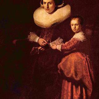 쉬사나 펠리코르너와 그녀의 딸 에바의 초상