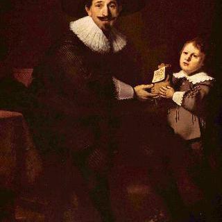 얀 펠리코르너와 그의 아들 카스파르의 초상
