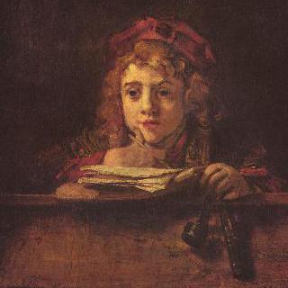 책상에서 글을 쓰는 티튀스의 초상