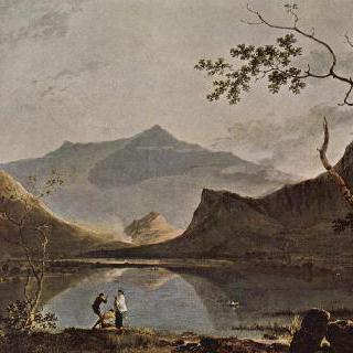 낸틀 호수에서 바라본 스노든 산