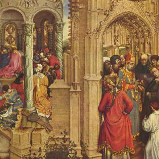 지팡이의 기적과 마리아의 결혼이 그려진 제단화