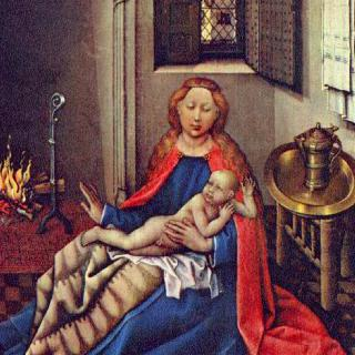벽난로 곁의 마리아와 아기 예수