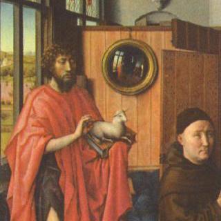 베를의 세폭화, 왼쪽 날개 : 세례 요한과 기부자 하인리히 폰 베를