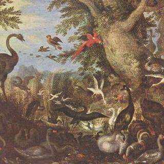 풍경 속의 새들