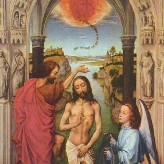 요한 제단화, 가운데 그림 : 그리스도의 세례