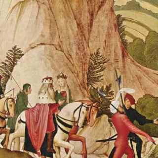 레오폴트 제단화, 날개 그림 : 말을 타고 나가는 성 레오폴트