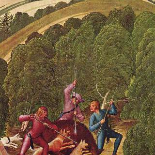레오폴트 제단화, 날개 그림 : 멧돼지 사냥