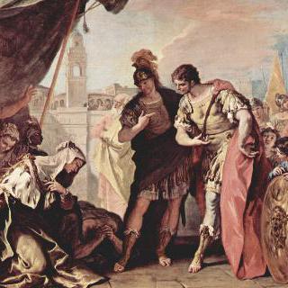 알렉산드로스 대왕 앞에 있는 다리우스의 가족