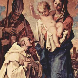 쾰른의 성 브루노와 링컨의 주교 성 휴고 앞에 나타난 성모