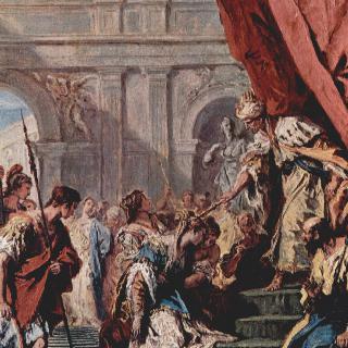 페르시아의 아하수에로 왕 앞의 에스더