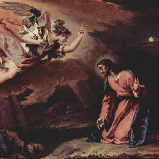 감람산에서 기도하는 그리스도