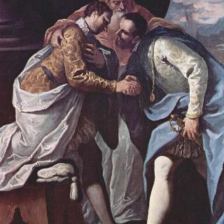 교황 바오로 3세와 프랑수아 1세, 카를 5세의 만남