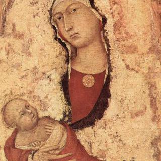 마리아와 아기 예수, 일부조각