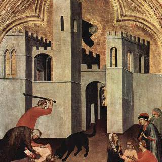 개에 물려 죽게 된 아이를 치유하는 아우구스티누스