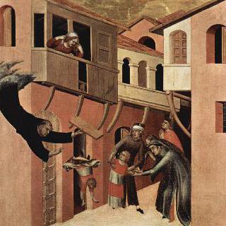 로지아에서 떨어진 아이를 소생시키는 아우구스티누스