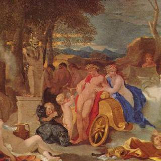 님프들과 사티로스들과 함께 있는 바쿠스와 케레스