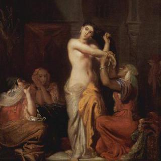 하렘의 장면, 목욕하는 무어 여인