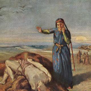 마제파의 시신 곁에 있는 카자크 소녀