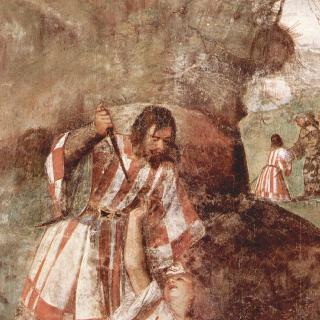 파도바의 성 안토니우스의 기적 : 자신의 남편에게 부상당한 여인을 구조한 기적