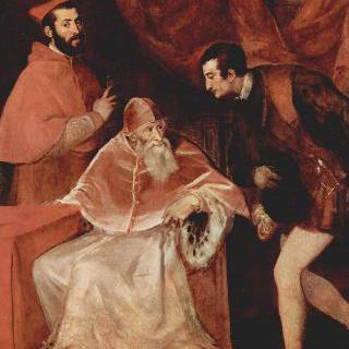 알레산드로 파르네세 추기경과 오타비오 파르네세 공작과 함께 있는 교황 바오로 3세의 초상
